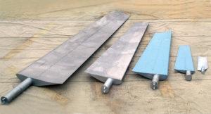 Типоряд металлических лопастей